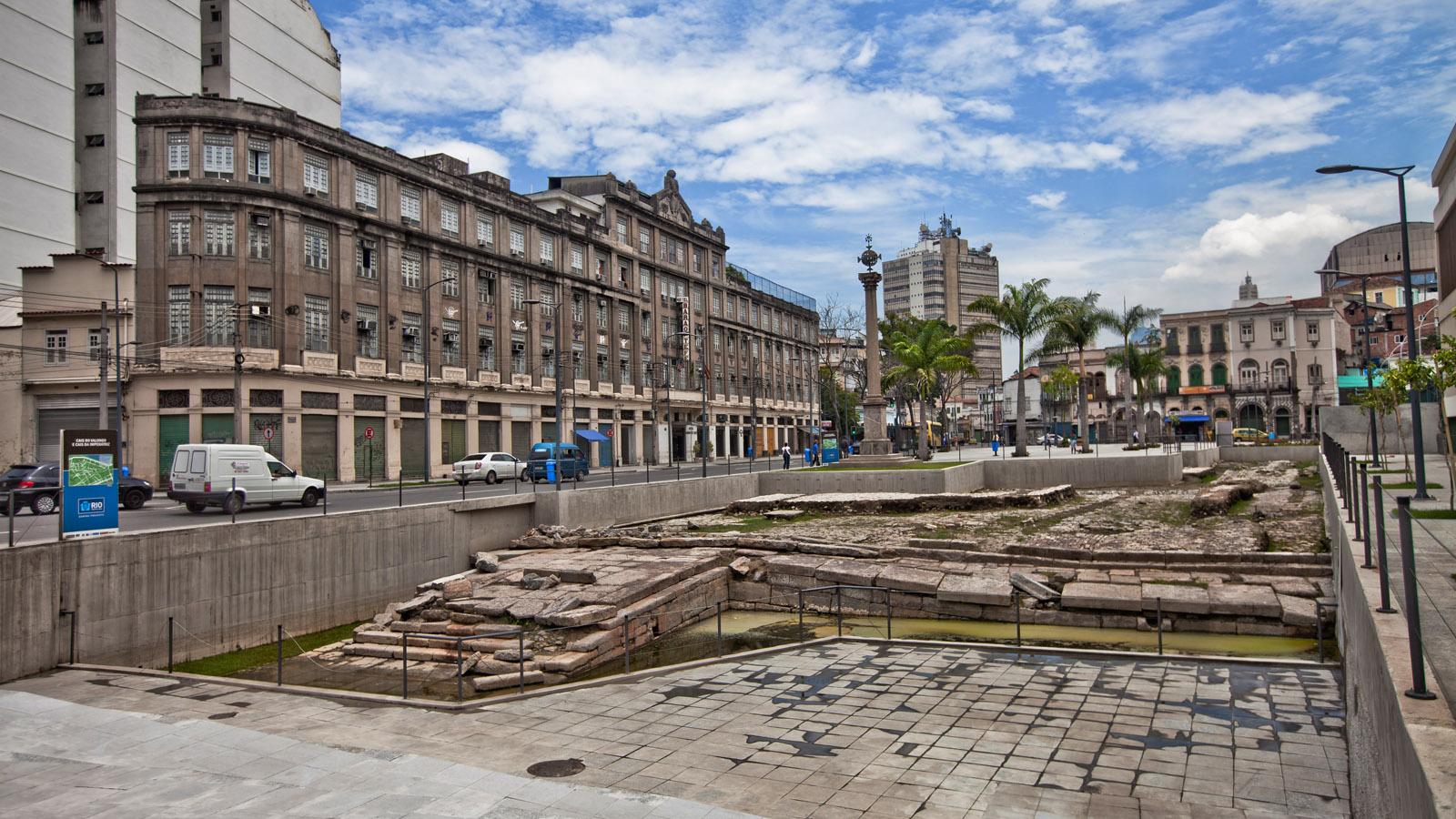 Obras do binário no Porto do Rio